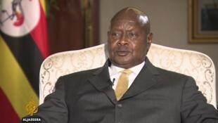 Yoweri Museveni, le président ougandais, dont l'interview par al-Jazeera a été diffusée le 29 avril 2017.