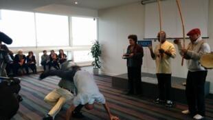 Apresentação dos mestres de capoeira brasileiros na UNESCO
