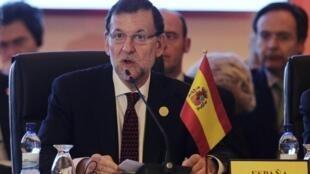 O primeiro-ministro espanhol Mariano Rajoy