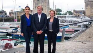 Aurélie Filippetti, ministre de la Culture (à gauche) aux cotés de Quentin Raspail, président du Festival de la fiction TV et Frédérique Bredin, nouvelle présidente du Centre national de cinématographie.
