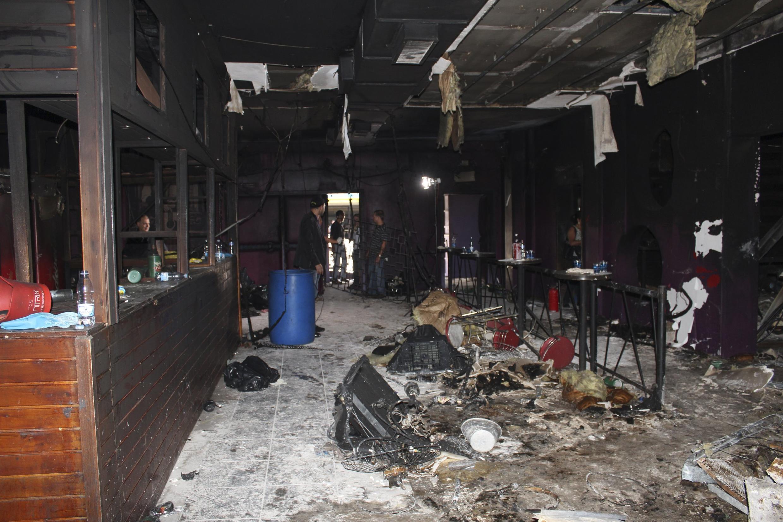 Interior da boate Kiss, incediada no dia 27 de janeiro; a tragédia deixou 240 mortos.