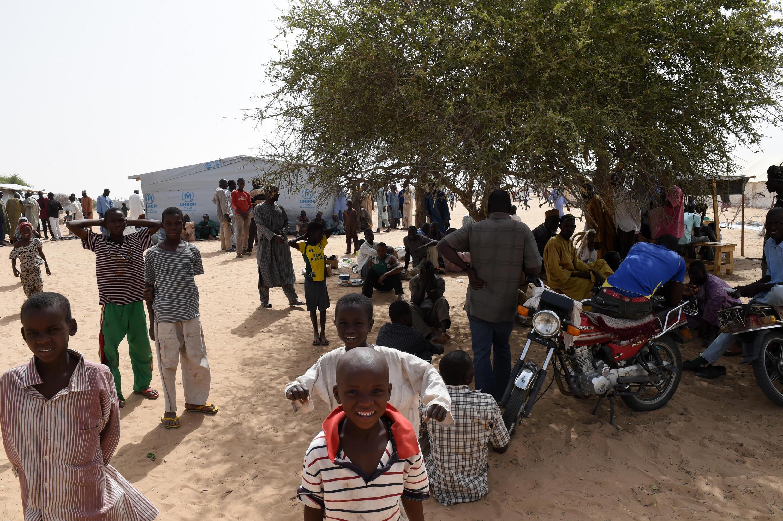 Un camp de réfugiés nigérians, près de Baga Sola (Tchad).