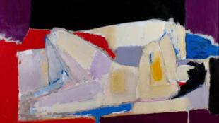 俄罗斯裔法国画家尼古拉 德 斯塔尔的作品<<躺着的人>>(nu couché 1954)一超过七百万欧元的成交价创下2011年巴黎艺术品拍卖的最好成绩.