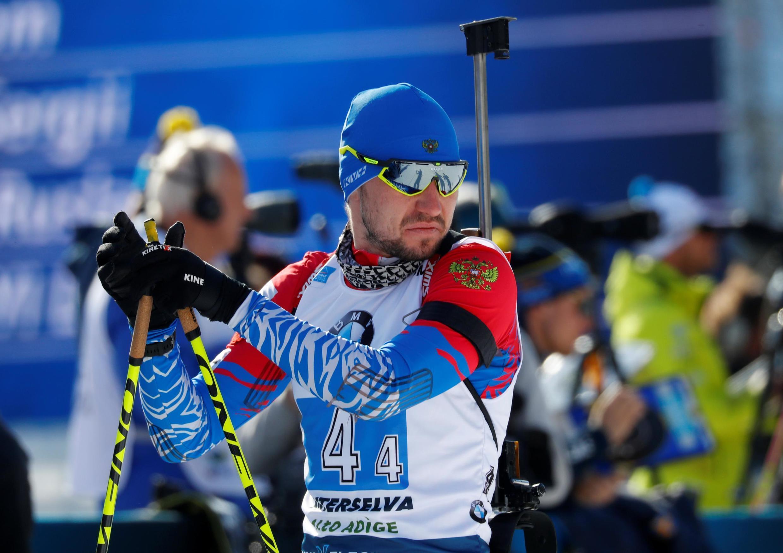 Александр Логинов перед своим эстафетным этапом. Антхольц-Антрсельва, 2020.