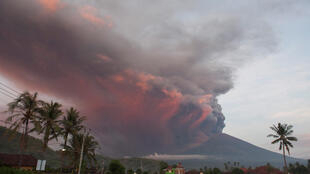 Mlima wa volkano, Bali, Novemba 26, 2017.