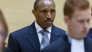 Bosco Ntaganda during the first day of his trial on 2 September 2015.