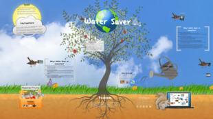 C'est en s'amusant que la petite Hania a mis au point son programme de gestion d'eau.