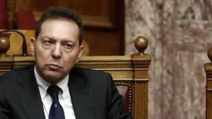 O ministro de Finanças da Grécia, Yannis Stournaras