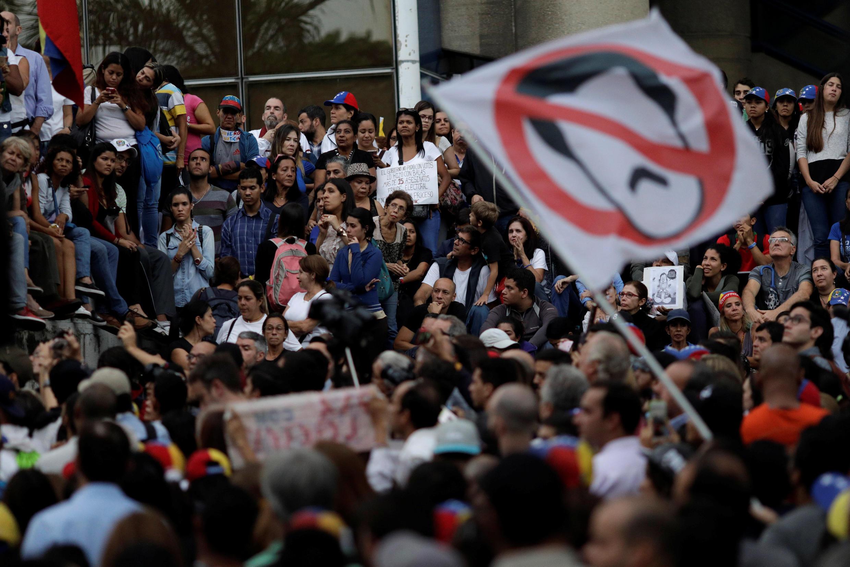 Manifestation à Caracas contre le président Maduro, le 31 juillet 2017.