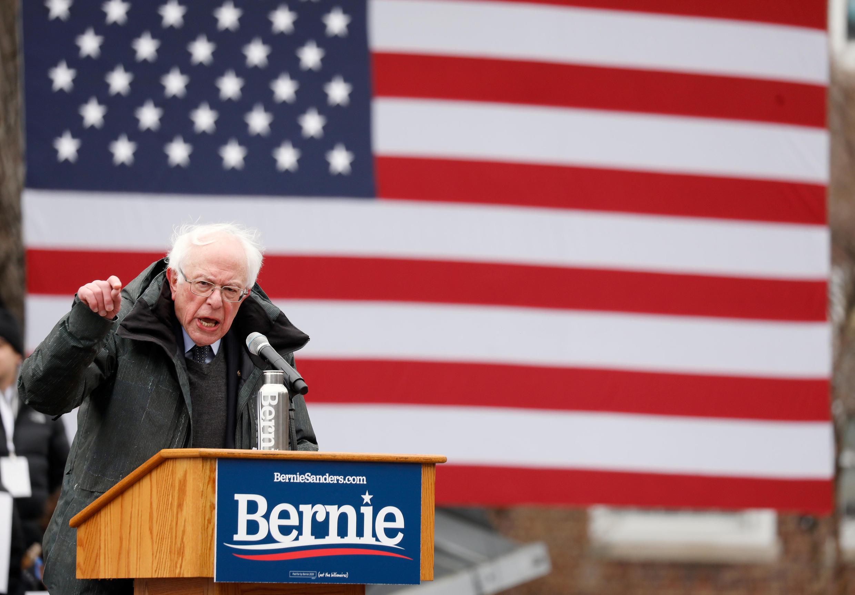 存档图片:美国联邦参议员伯尼·桑德斯 Image d'archive: Bernie Sanders, sénateur américain, candidat à la présidentielle 2020 en mars 2019