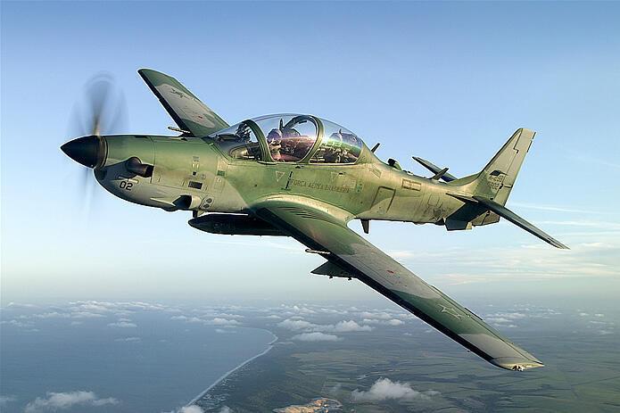 O Super Tucano, um dos maiores suvessos de vendas da Embraer Defense.