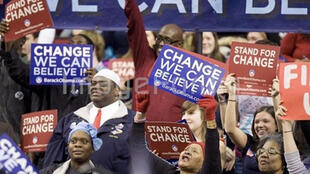 Seattle. Meeting électoral pour Barack Obama, le 8 février 2008.
