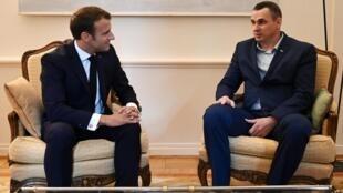 Накануне Олег Сенцов встретился с президентом Франции Эмманюэлем Макроном