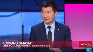 西藏流亡政府司政洛桑森格接受法国24小时电视France24专访 2018 1 28