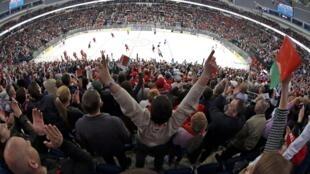 Чемпионат мира по хоккею на стадионе Минск Арена 11/05/2014