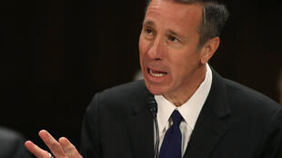 Arne Sorenson, CEO of Marriott International, is seen at a 2019 congressional hearing. Sorenson died this week after a battle with pancreatic cancer