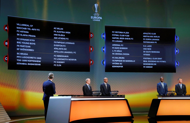 Sorteio da fase de grupos da Liga Europa 2017/2018.