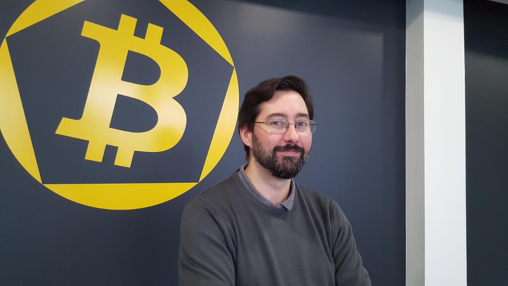 Manuel Valente, directeur des opérations à La Maison du Bitcoin à Paris, plateforme d'échange.