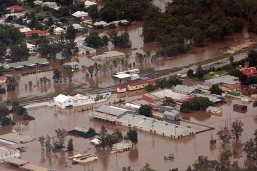 Enchentes devastam cidades na Austrália.