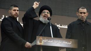 Kiongozi wa kundi la Hezbollah, Hassan Nasrallah