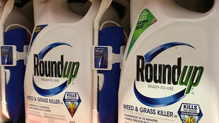 Sacks of the weedkiller suspected of causing cancer which has now been banned by the Austrian parliament.