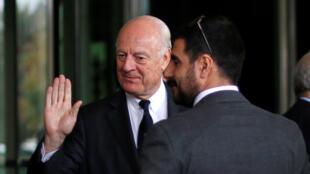 استیفان دو میستورا، نماینده سازمان ملل برای حل بحران سوریه وارد سوریه شد.