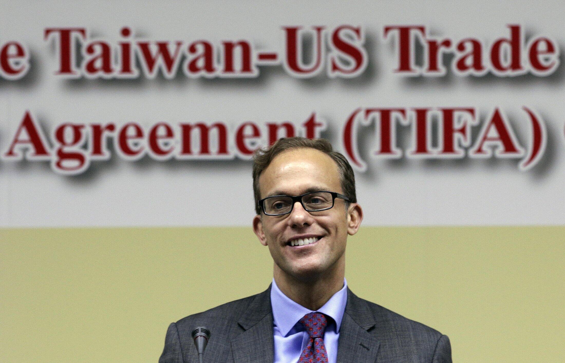Ông Demetrios Marantis phó đại diện Thương mại Mỹ tại Đài Bắc sau vòng đàm phán về tự do mậu dịch giữa hai nước ngày 10/03/2013.