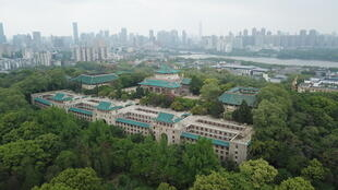 Le campus de l'université de Wuhan Hubei Chine