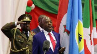 Le président burundais Pierre Nkurunziza, le 20 août 2015 lors de son investiture à Bujumbura.