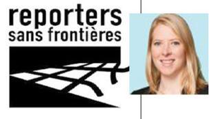 """Cléa Kahn-Sriber, mkuu wa shirika la kimataifa la wanahabari wasiyokua na mipaka """"Reporters sans Frontieres"""" ."""