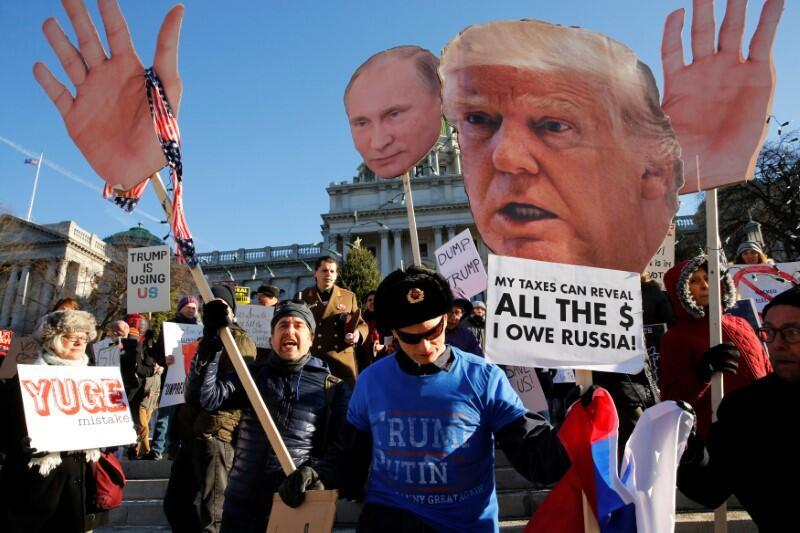 Biểu tình chống Donald Trump tại Pennsylvania, Mỹ trong ngày đại cử tri bỏ phiếu bầu ông Trump làm tổng thống 19/12/2016.