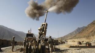 Pháo binh Mỹ  tân công một can cứ của quân Taliban tại tỉnh Kuanar