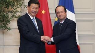 中法兩國領導人