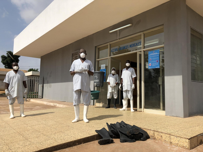 Le centre de prise en charge du Covid-19 à Bangui, Centrafrique, le 20 avril 2020.
