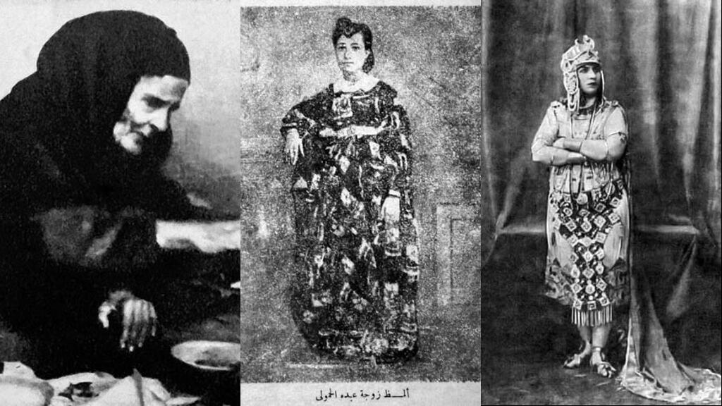 Bahiyyael-Mhallawiya à gauche, Almaz au centre et Munira al Mahdiya à droite.