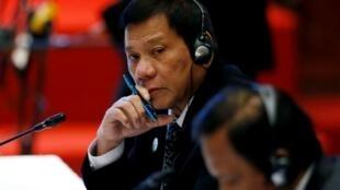 Filipino President Roberto Duterte attending the 2016 September meeting of the ASEAN.