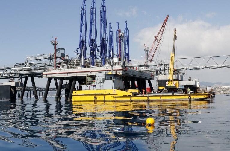 Terminal pétrolier dans le port de Vasilikos, le 24 mars 2015 (image d'illustration).