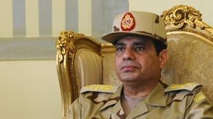Le général al-Sissi, lors d'une conférence de presse au Caire, le 22 mai 2013.
