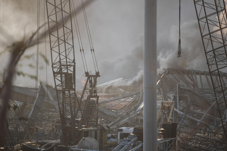 انفجارهای روز سه شنبه ١٤ مرداد/ ٤ اوت در بیروت، بندر پایتخت لبنان را ویران کرد