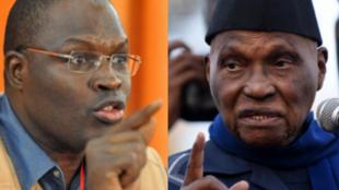 Khalifa Sall, le maire de Dakar, en 2011 et Abdoulaye Wade, ancien président de la République du Sénégal (photomontage).