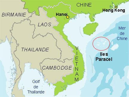Vị trí quần đảo Hoàng Sa (Paracel) ngoài Biển Đông.