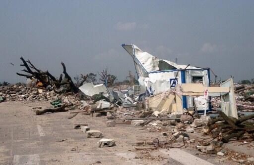 Photo prise à Brazzaville après les explosions du dépôt de munitions de Mpila.