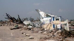 Des victimes de l'explosions du dépôt de munitions de Mpila viennent d'être déguerpis par les autorités de Kintélé (image d'illustration).