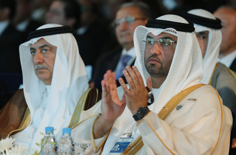 Đại diện các nước Ả Rập giàu có trong vùng Vịnh tại Hội nghị quốc tế Phát triển Kinh tế Ai cập tại Cairo ngày 14/3/2015.