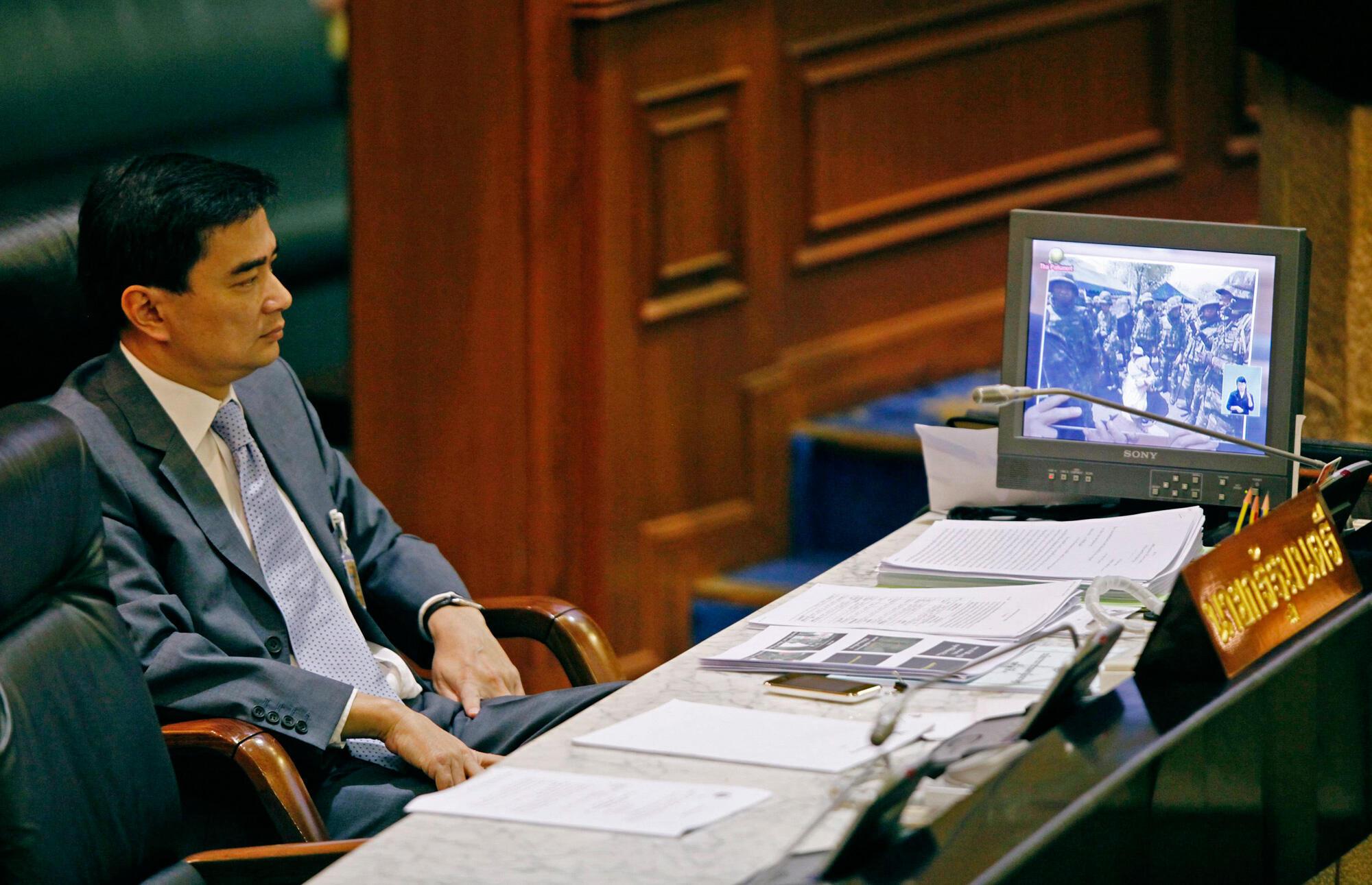 PRI Ministan kasar Thailand, Abhisit Vejjajiva,