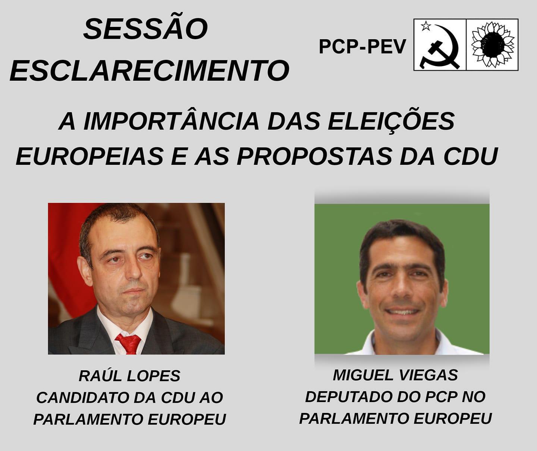 Candidatos da CDU, comunista e ecologista de Portugal reunidos em Paris sobre eleições europeias