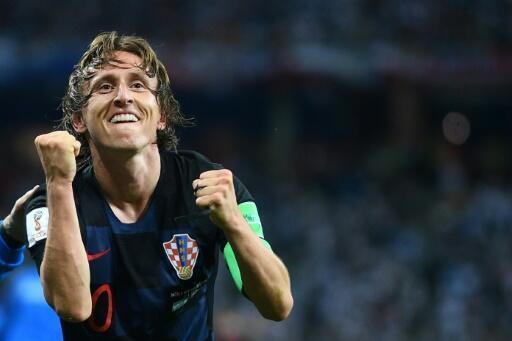 Croatian midfielder Luka Modric won the Golden Ball trophy as best player at the Moscow football World Cup tournament