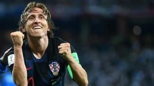 Croatian midfielder Luka Modric won the Golden Ball trophy as best player at the Moscow football World Cup tournament