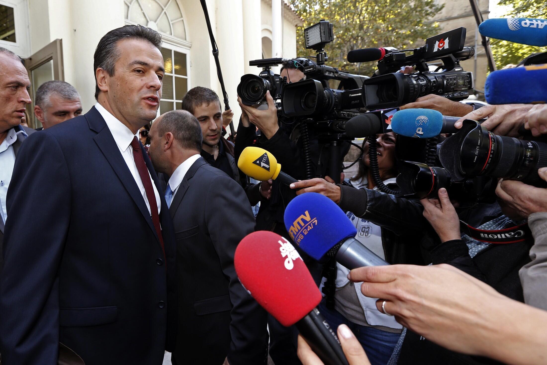 Le candidat du Front national, Laurent Lopez, le 13 octobre 2013.