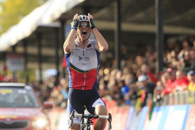 Le Portugais Rui Costa, champion du monde sur route 2013.